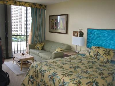 Queen Bed and sofa sleeper - Awesome Studio/kitchenette/free parking and wifi/ocean view/Waikiki - Honolulu - rentals