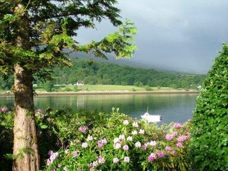 Blossoms overlooking the loch at Linnhe Lochside Holiday park just in front of Gold Caravan - Gold Caravan with beautiful loch views - Fort William - rentals