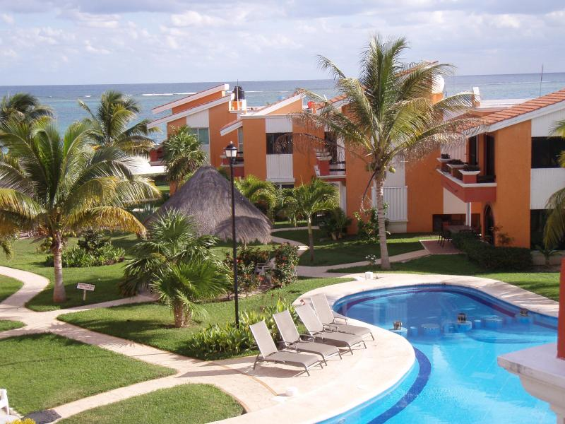 View from our great room - Beachfront penthouse condo with spectacular views - Puerto Morelos - rentals