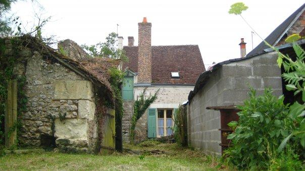Rear of house from garden - Adorable 18th Century cottage in French village!!! - Pontlevoy - rentals
