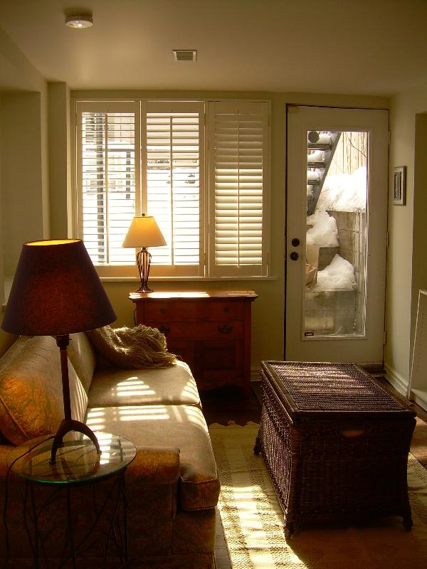 Sun streaming through the living area  - Superb Location - Toronto - rentals
