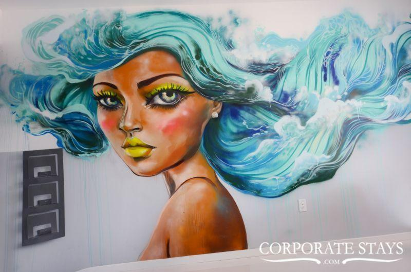 Miami Mermaid 1BR High-End Rental, Mural Art - Image 1 - Miami - rentals