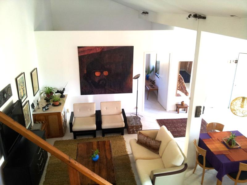 A view from the gallery to the Living Room - A Beautiful Loft-Style Apartment near Jerusalem - Jerusalem - rentals