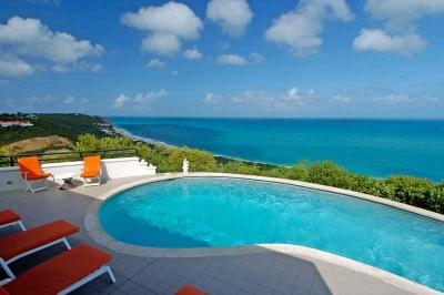 Ritzy 4 Bedroom Villa Overlooking the Caribbean Sea in Terres Basses - Image 1 - Baie Rouge - rentals