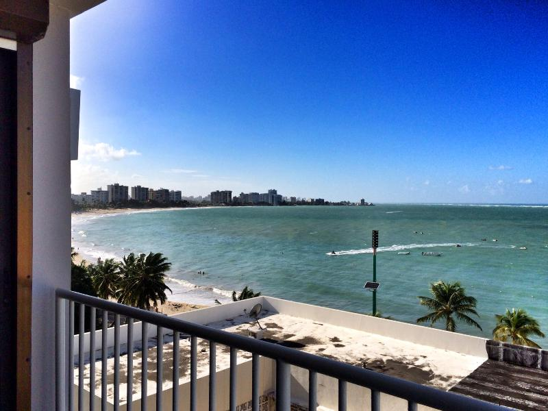 "The view from your penthouse! Isla Verde Beach. - ""Gem of the Sea""  Penthouse Ocean View, Steps from the Beach - Carolina - rentals"