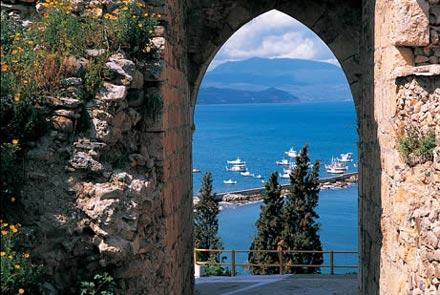 The view of the Koroni port from the castle - Beach Villa, Having Fun in the Sun - Vasilitsion - rentals