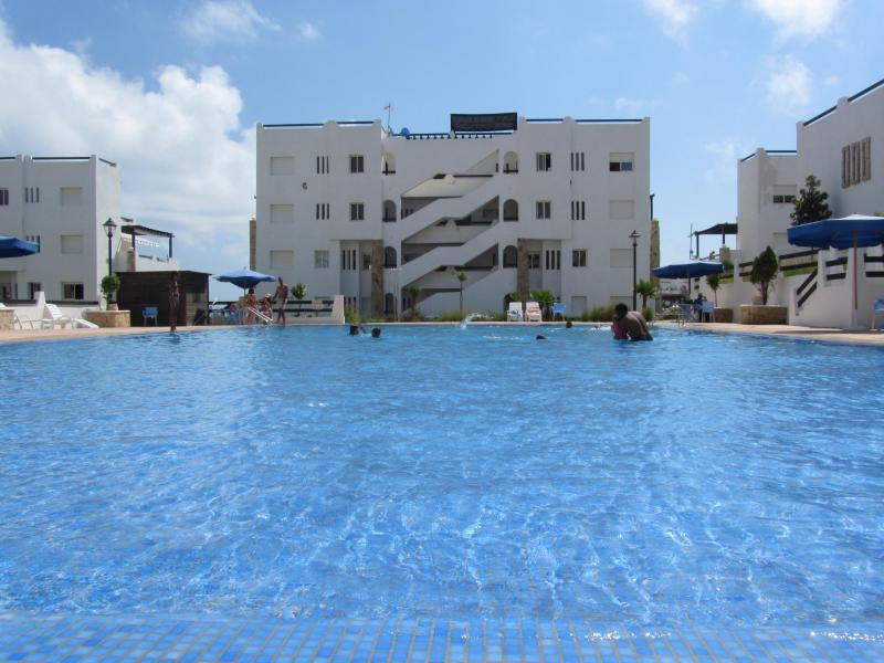 Pool - 3 bed/two bath condo with pool and parking - Fam El Hisn - rentals
