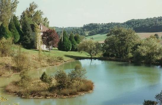 Las Tuillieres view from lake - Las Tuillieres 18th Century Manoir. - Blaymont - rentals