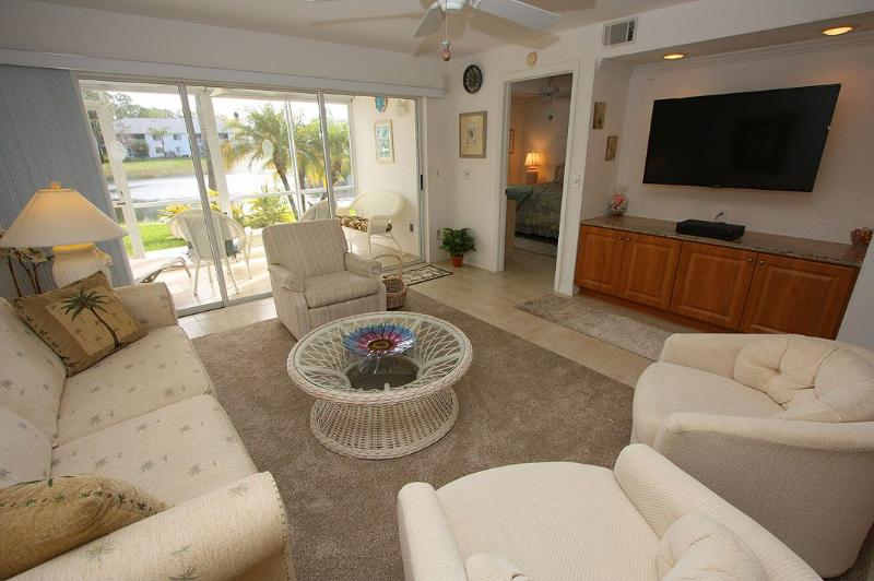 Living Area  - Sapphire Lakes 1409 - Naples - rentals