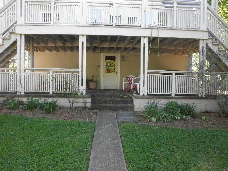 The private entrance includes a patio. - Camp Serendipity - Alexandria - rentals