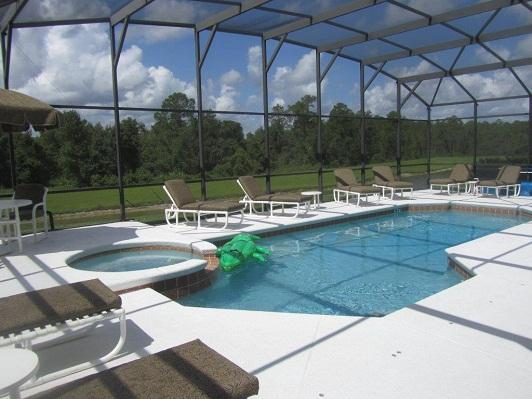 Pool and spa area  - Stunning huge Villa on Emerald Island Resort - Kissimmee - rentals