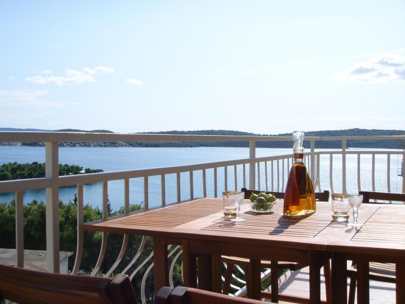 Apartment 3 balcony and view - Trogir, Private Balcony with  fantastic sea view! - Trogir - rentals