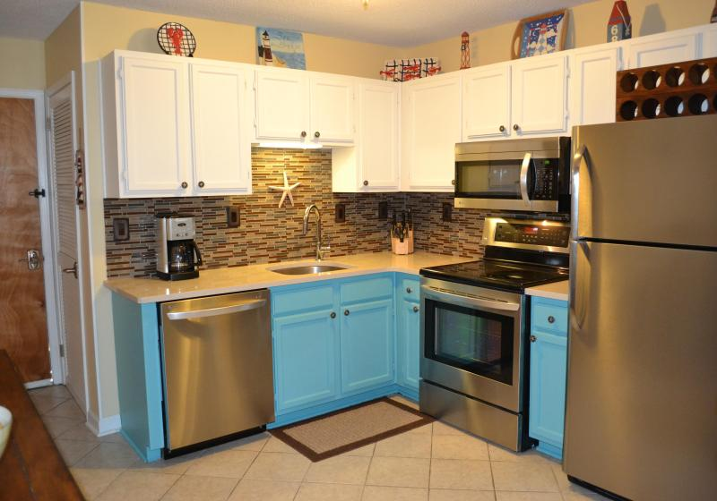 Newly updated kitchen with all new appliances and quartz counters - Relaxing Retreat in a Beautiful Coastal Condo - Private Beach Only Steps Away! - Hilton Head - rentals