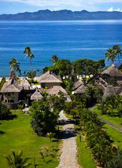 View of ocean front property and bay - Tinikava Luxury Beachfront Villa In Fiji On 1 Acre In Scenic Bay - Pacific Harbour - rentals