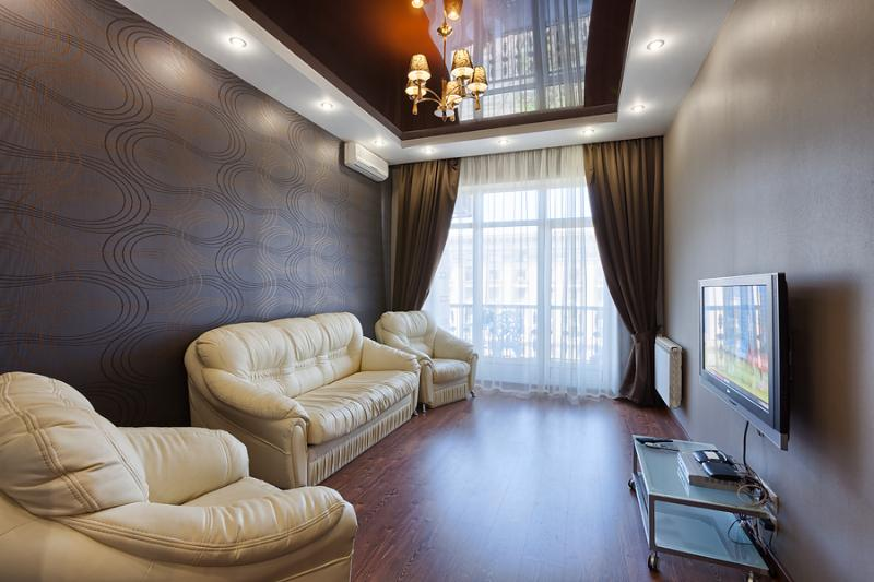 living room - Kreschatyk View Balcony - Kiev - rentals