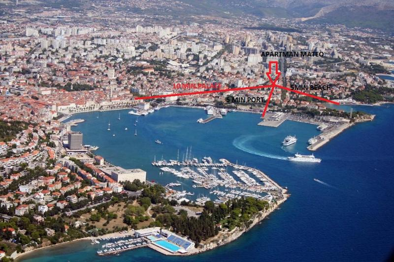 excellent location of the apartment-distance foot - Apartment Mateo close to the beach Bačvice - Split - rentals