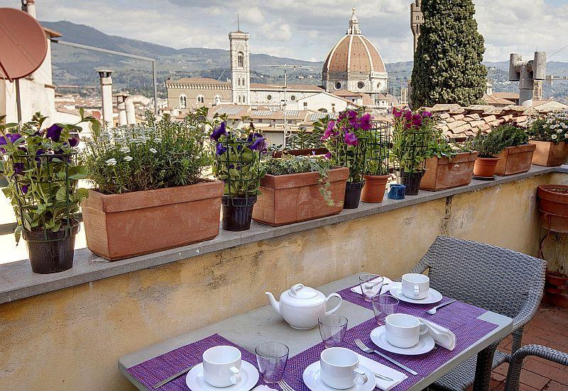 The view from the terrace - Panoramic view on the center of Florence - Florence - rentals