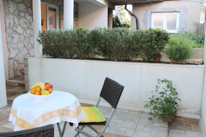 Terrace and entrance to the apartment - Apartment Captain A 2+1 - Dubrovnik - rentals