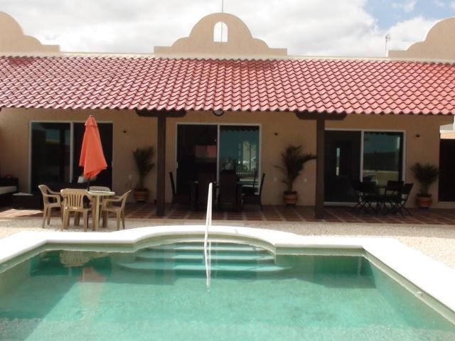 View of house and pool from beach gate - Tortugas - Beautiful Beach Casa - Chelem, Yucatan - Chelem - rentals