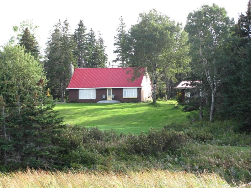 View of the house from the Beach - Sand Point House -  Ocean Front Vacation Home - Port Hawkesbury - rentals