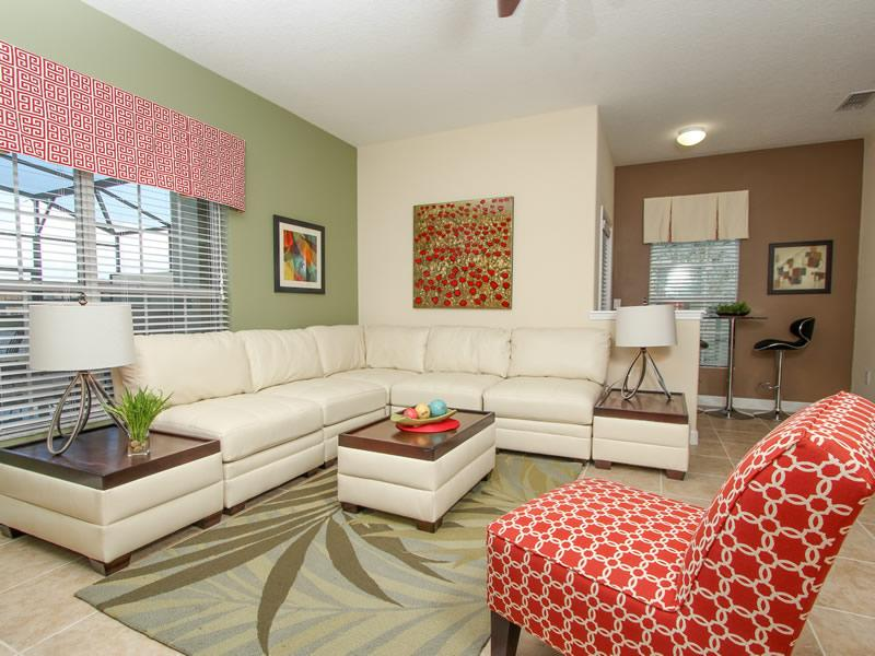 Living area  - 5 star home on Paradise Palms 5 bed/4 bath - Kissimmee - rentals