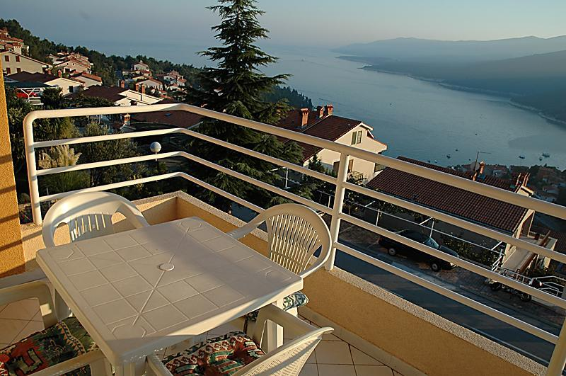 Balcony with panorama view - Panorama sea view apartment in Rabac - Rabac - rentals