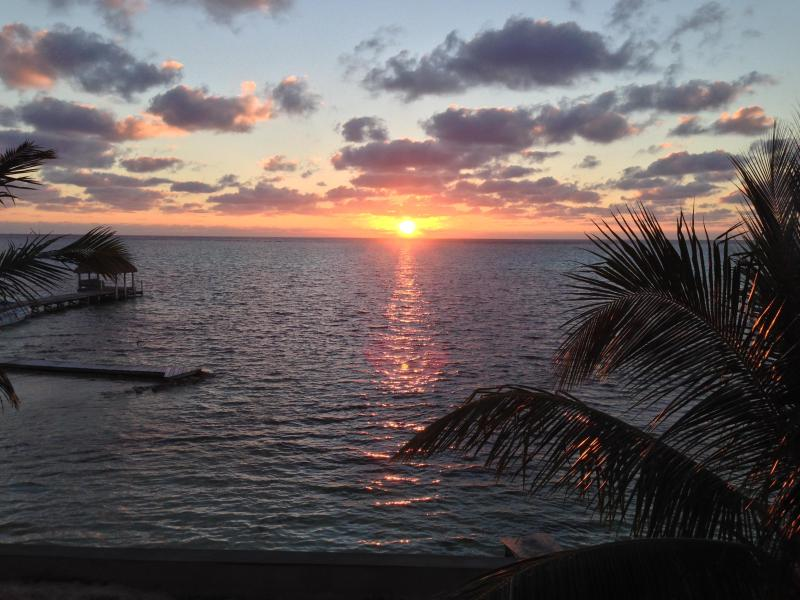 Your view at sunrise. - Executive Main Floor Studio Caribbean Beachfront - San Pedro - rentals