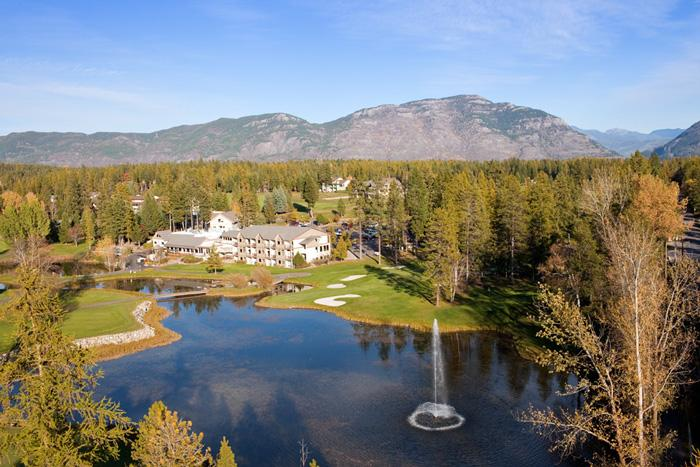 Meadow Lake Resort Aerial View - Picturesque Montana Vacation Golf and Ski Resort - Columbia Falls - rentals
