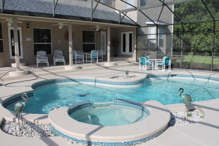 Large pool and spa overlooking conservation - Fantastic Luxurious Secluded Close To Disney - Kissimmee - rentals