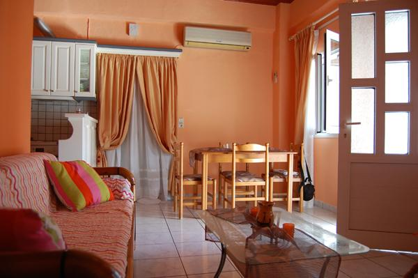 Cozy living room  - Comfortable 1-bedroom apartment close to beach - Asprovalta - rentals