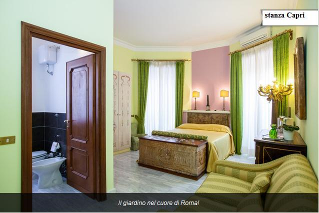 Capri Room (double or triple) - Capri's Room the garden in the heart of Rome. - Rome - rentals