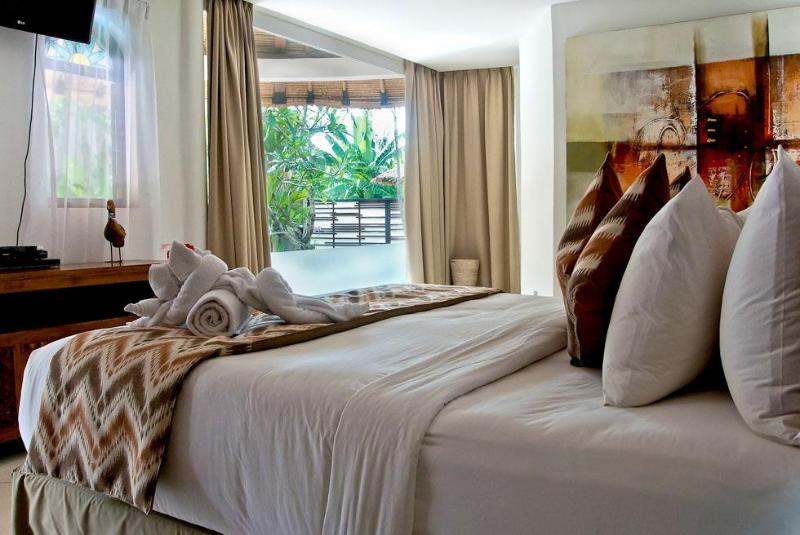 bedroom 1 with pool view - Bali Villas R us - Bed and breakfast $75/night - Badung - rentals
