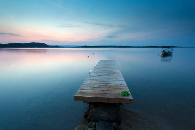 Dock in front of the house at sunset. - Amazing beach front private house/ Удивительные побережье частный дом - Vourvourou - rentals