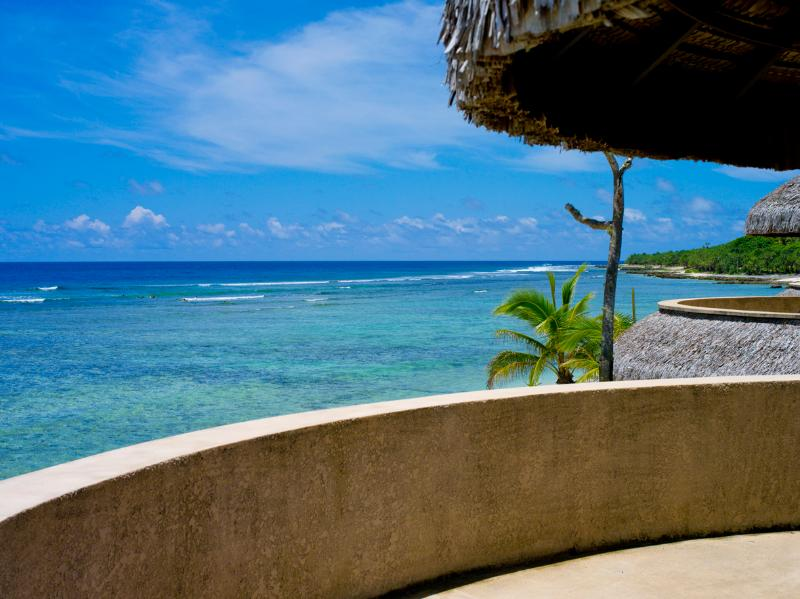 Your view from your private balcony on the first floor, champagne, sunsets and surfers!! - Absolute Beachfront Villas (x3) - Epi Island - rentals