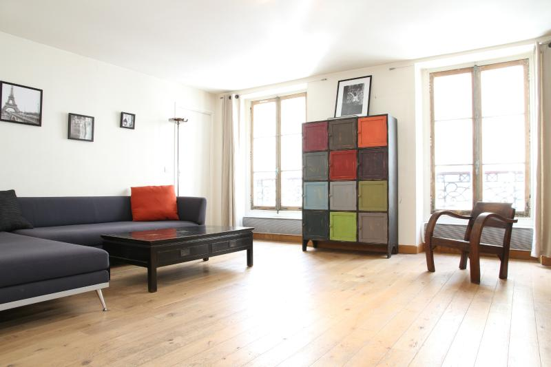 Sunny and Spacious Living Area - 46. SPACIOUS Apartment - Rue Cler - 7th Arrondissement Palais-Bourbon - rentals