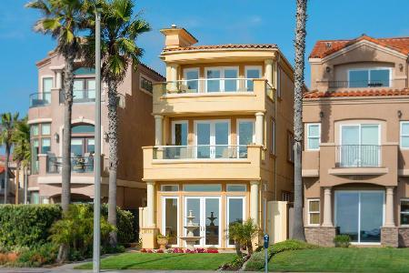 Beachfront Huntington Beach Luxury Villa offers an elevator and gourmet kitchen - Image 1 - Huntington Beach - rentals