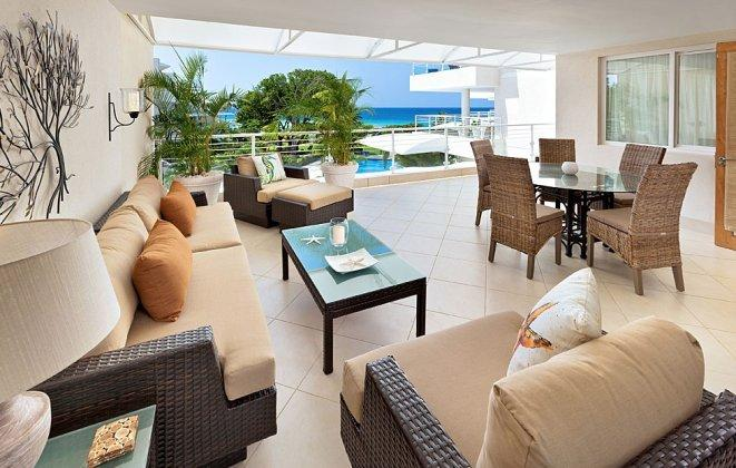 Luxury Lounge Space - **Beachfront 2 Bedroom Condo with Communal Pool** - Bridgetown - rentals