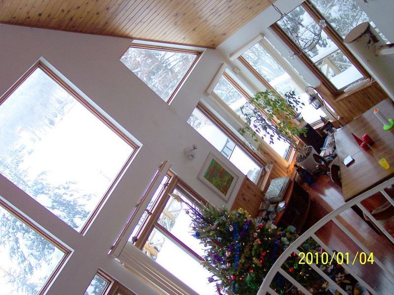 View from mezzanine - Lakeside chalet in the Laurentians - Saint-Adolphe-d'Howard - rentals