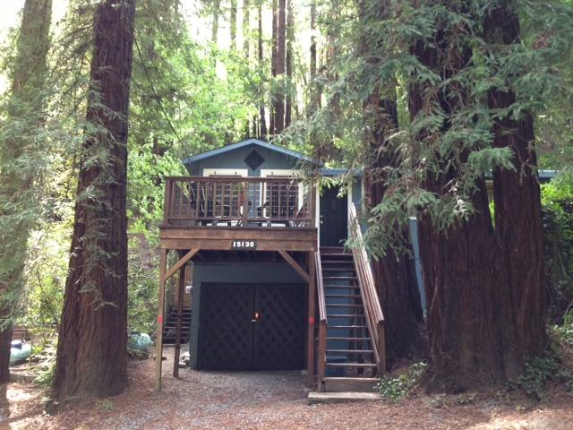 view from the street - The Sequoia House - Guerneville - rentals