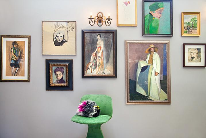 Welcome to Art House. Living room. Mix of vintage and modern artwork. - A Beautiful Place for Inspired Travelers - San Francisco - rentals