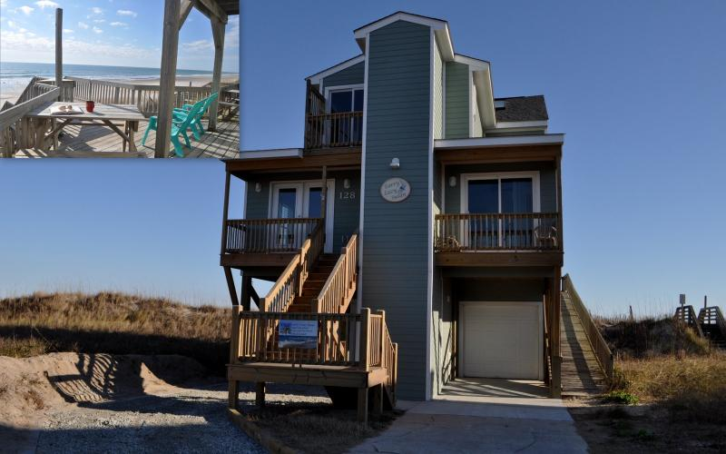 Welcome to Larry's Lazy Susan , Covered Parking, Elevator and Ramp Access - Larrys Lazy Susan -Elevator 5BR Beachfront - North Topsail Beach - rentals
