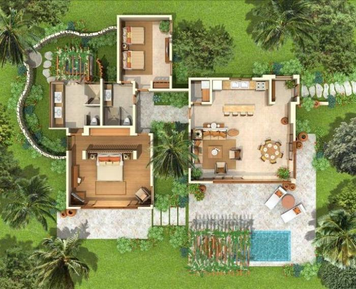 Green Village Villa Floor Plan - Cap Cana,Green Village, Maid Included; Up To 40% Off! - Punta Cana - rentals