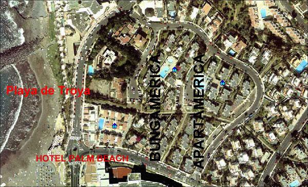 Situation Bungamerica - Apartments at the beach of Playa las Americas - Adeje - rentals