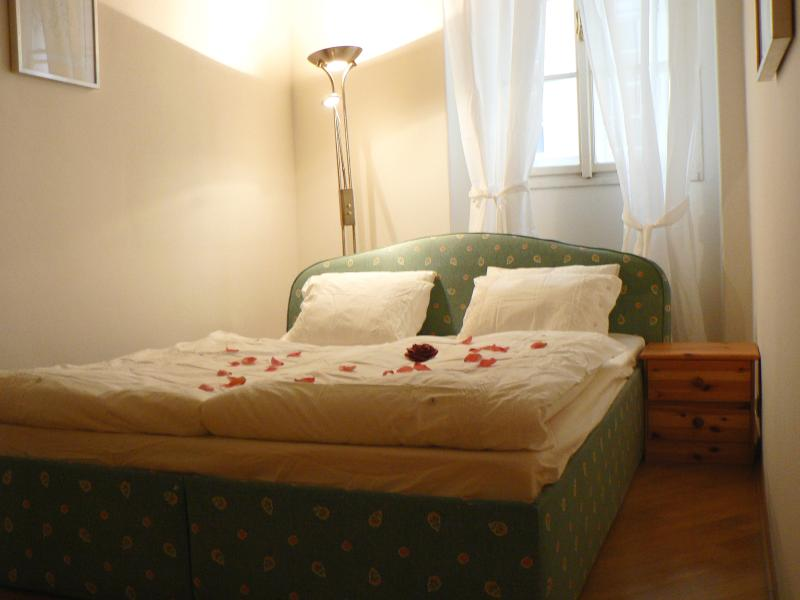 First bedroom (each bedroom features a wardrobe) - Historical Town Apartment - Below Prague Castle! - Prague - rentals
