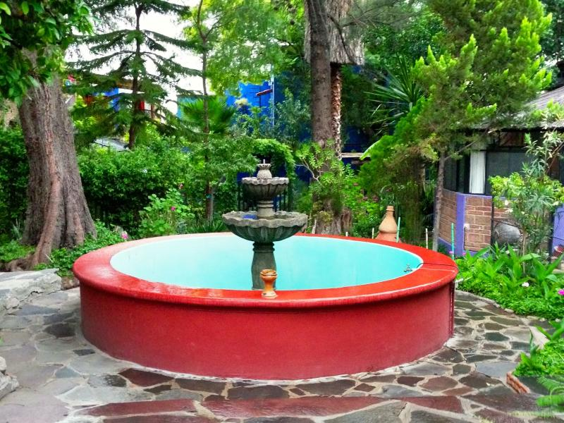 fountain in courtyard of main house - Best price, best location,  2/3 bedroom house in Centro - San Miguel de Allende - rentals