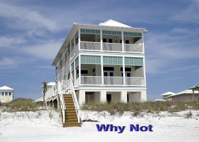 Why Not?, Every bedroom leads to a breezy porch. Beachfront home - Image 1 - Carillon Beach - rentals