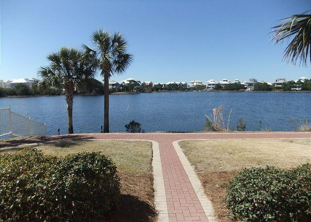 View from Patio - Sunrise 102, Private terrace,short walk to the beach. - Carillon Beach - rentals