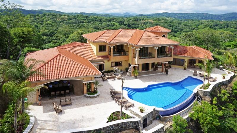 Aerial view of Villa facing the ocean  - Luxurious Hilltop Villa RocMar in Costa Rica - Playa Hermosa - rentals