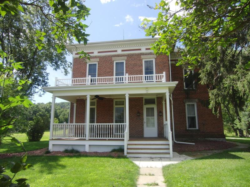 The farmhouse was built in 1879; vintage characteristics around every corner.   - Room for a crowd at Akey Valley in southwest WI - Gotham - rentals