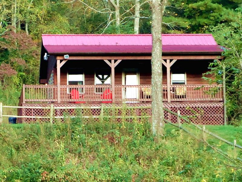 Speckled Trout Cabin - Cabin on New River Trail -  Deck Overlooking Creek - Galax - rentals